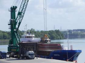 Short-sea trader Odertal, Afloat adds with a dry-bulk cargo when berthed at the Port of Waterford