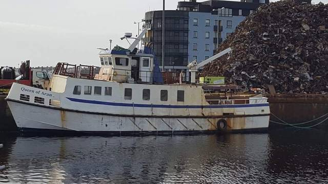 Queen of Aran which Afloat adds is seen berthed in Dun Aengus Dock, Galway, is the ferry that is to be introduced serving Tory Island off Donegal