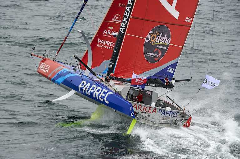 Nine IMOCAs Pass Cape of Good Hope in Same Day of Vendee Globe Race