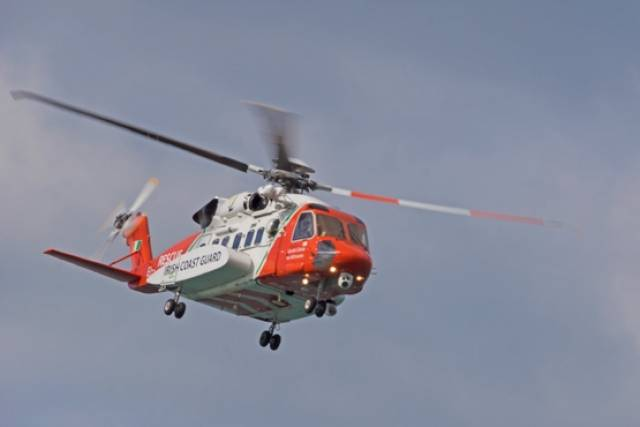 One of the Irish Coast Guard's four Sikorsky S-92 long-range SAR helicopters