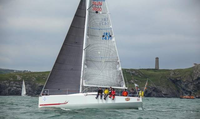Conor Fogerty's BAM, a Sunfast 3600, from Howth, pictured here during Jun'es Round Ireland Race, races in division IRC six in Malta tomorrow