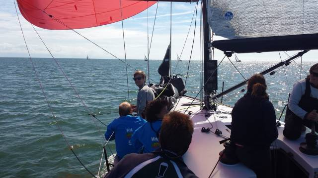 Conor Phelan's Jump Juice leads class one at Abersoch Keelboat week
