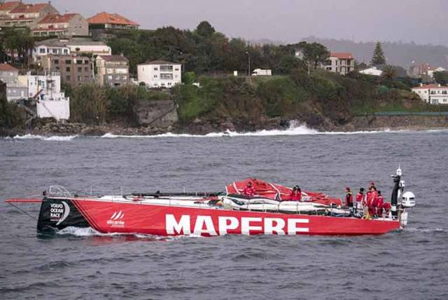 Volvo Ocean Race Entry Mapfre Dismasted