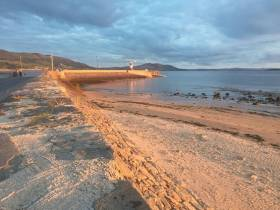 The pier at Buncrana where the tragedy occurred, as seen last summer