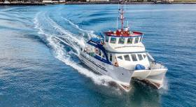 The Rathlin Express fast ferry diverted to the divers' position