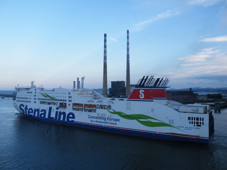 File photo: Departing Dublin Port is the Stena Adventurer which this morning is bound for Falmouth, UK for annual dry-docking while new ferry Stena Estrid has directly taken over the sailing roster on the route to Holyhead, north Wales. Also maintaining a two-ship service is the Stena Superfast X which returns to the Ireland-Wales route while dry-docking takes place.