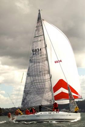 HYC Breakthrough, the First 40 which is the Howth entry for the 75th Rolex Sydney-Hobart Race of 630 miles in twelve days' time