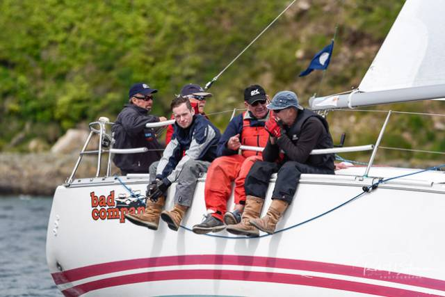The Sunfast 32, Bad Company (Desmond/Ivers/Deasy) was the IRC winner of RCYC's Round the Island Race in Cork Harbour. Scroll down for a photo gallery