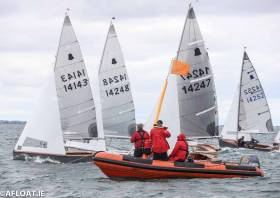 GP14s start a race at Volvo Dun Laoghaire Regatta
