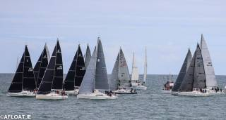 The Class one and Class Zero start of today's DBSC coastal race from Scotsman's Bay