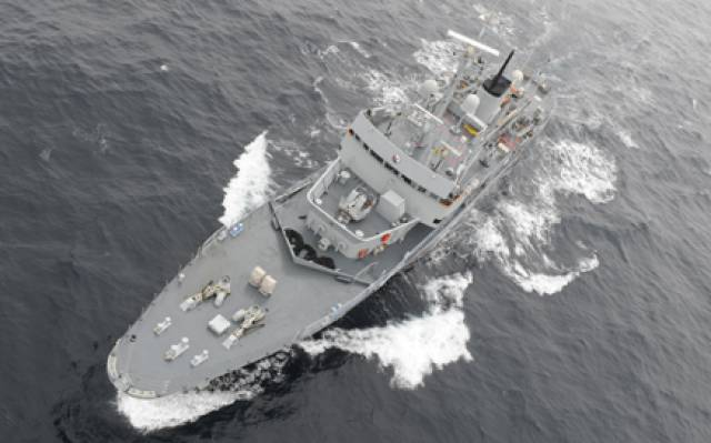 The LÉ Aisling which was decommissioned has attracted just two bids at Cork auction today.