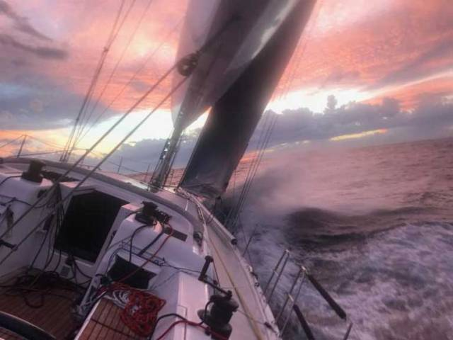 Third day at sea in the RORC Transatlantic Race to Grenada - photo from on board Friedrich Boehnert's Xp-50 Lunatix
