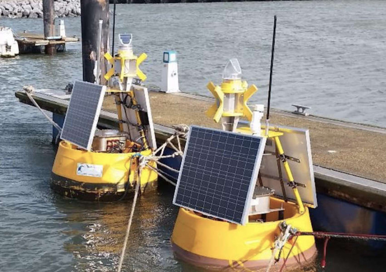 A wave buoy like these will be deployed off Wicklow this week