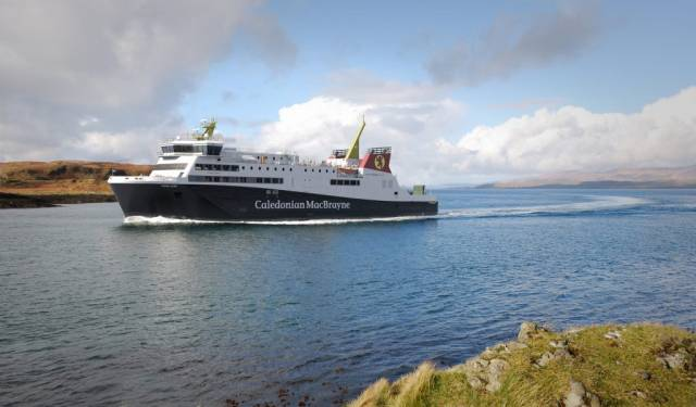 Cast Your Vote: An artist's impression of the new ferry to serve the Scottish island of Arran on the Forth of Clyde.