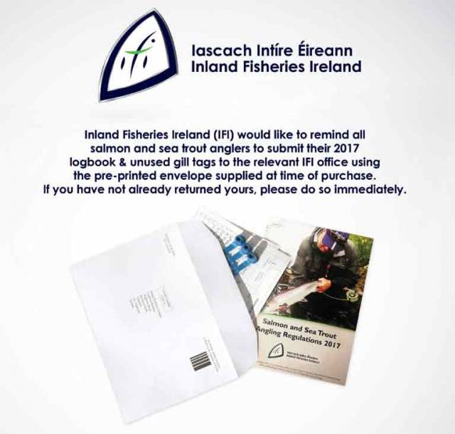 Inland Fisheries Ireland: Reminder to All Salmon & Sea Trout Anglers