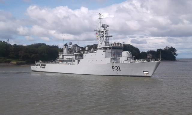 The loss of LÉ Eithne is particulary damaging to the Naval Service fleet as it has the longest range of the nine-ships. AFLOAT also adds the flagship which is capable of 7,000 nautical miles at 15 knots is seen in coastal waters during a visit last month to the Port of Foynes on the Shannon Estuary