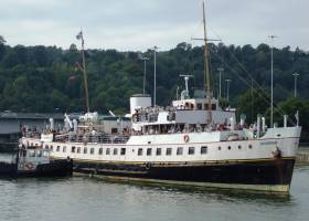 The MV Balmoral, seen here in its usual waters in Bristol, was built in 1945 and most recently refit in 2015