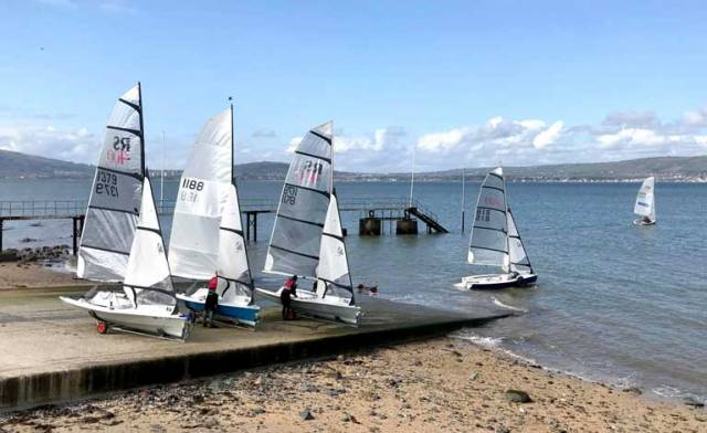 RS400s launch for Frostie racing on Belfast Lough