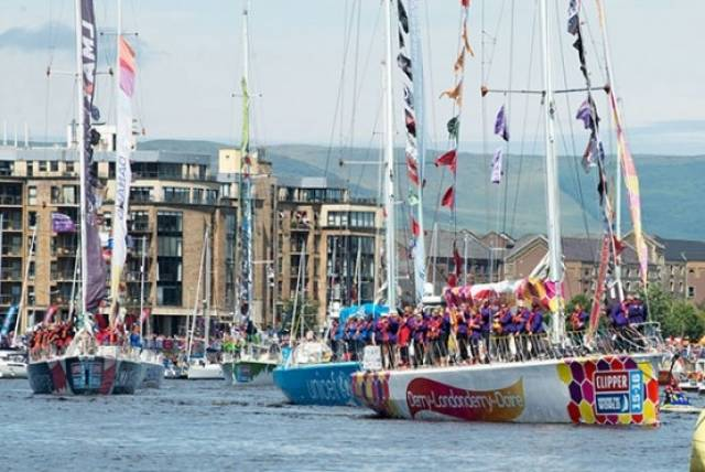 Derry~Londonderry~Doire leaving Foyleside last month on the penultimate leg of the race