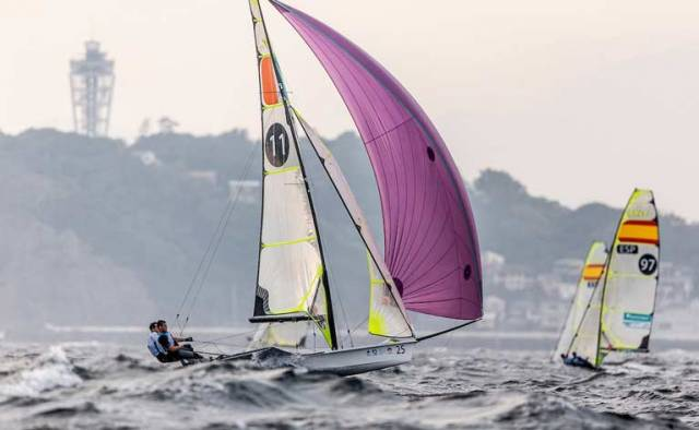 Total control - Irish 49er skiff pairing Ryan Seaton and Seafra Guilfoyle who are fifth overall after six races sailed