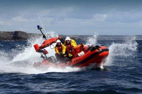 Union Hall RNLI on exercise