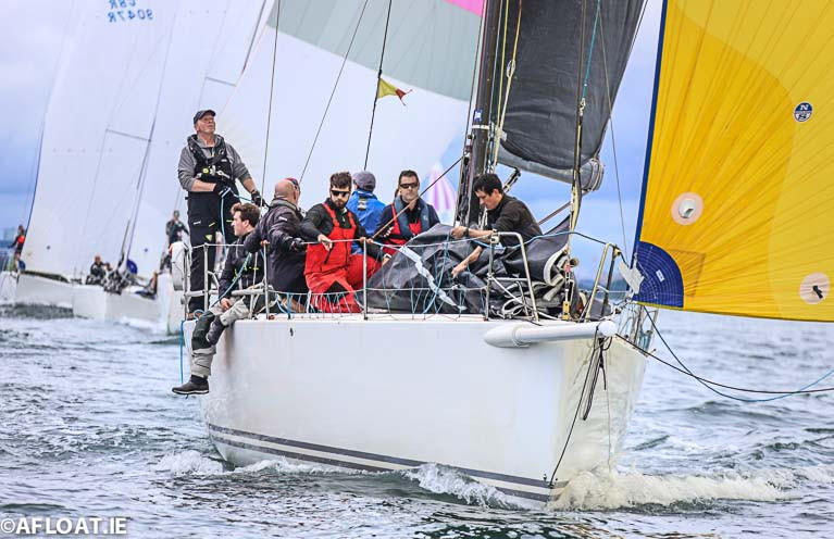 The Golden One: Chris Power Smith's J122 Aurelia competing in 2020's opening ISORA Coastal Race is entered for next month's Round Ireland Race from Wicklow