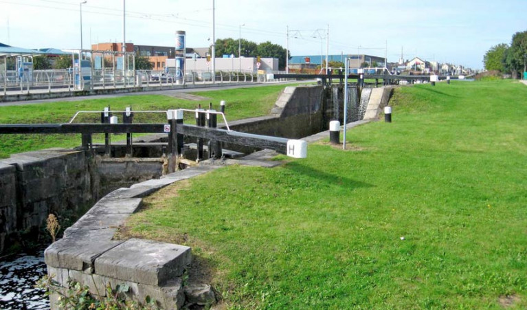 Lock 1 on the Grand Canal at Suir Road