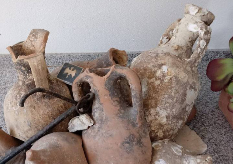 The ceramic amphoras could date from the first century AD