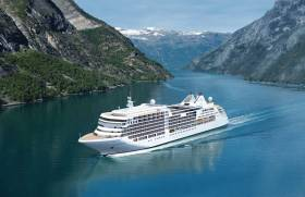 An impression of the brand new ultra-luxury cruiseship Silver Muse as depicted in the Norwegian fjords. The Viking connection with Ireland is that the new flagship of Silverseas Cruises is to make an Irish debut to Waterford when as the penulimate caller later in the season.