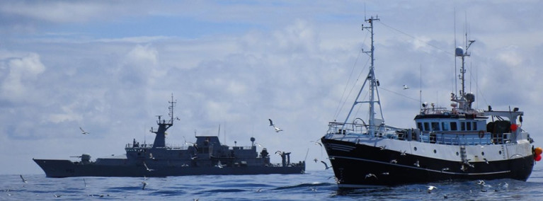 Foreign Affairs Minister Simon Coveney warns of 'tensions' between fishing fleets in event of no trade deal. Above Afloat adds is the patrol vessel LÉ Samuel Beckett on fishery duties.