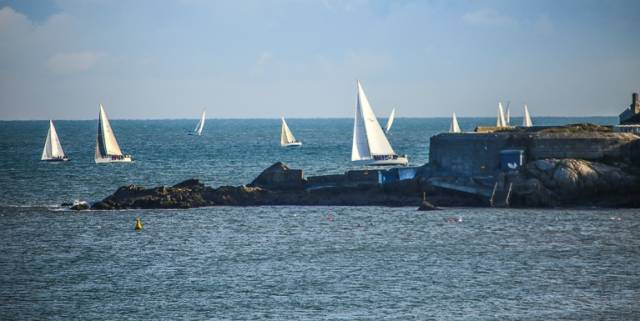 DBSC Turkey shoot competitors pass Sandycove Point during last Sunday's racing on Dublin Bay