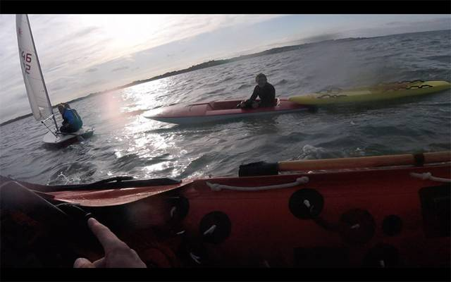 Howth RNLI Rescue Two Dinghy Sailors in Difficulties