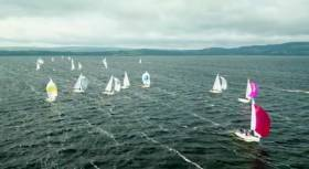 J24s in breeze on Lough Erne - view drone footage below