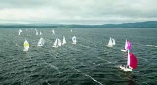J24s in breeze on Lough Erne - view drone footage below