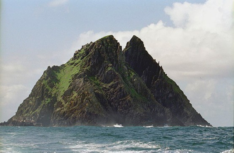 Filming on Skellig Michael for the Star Wars saga began in 2015
