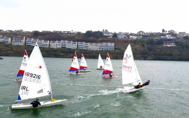 10 Squibs, 6 Toppers and 5 Mixed Dinghies, took to the water in Kinsale today