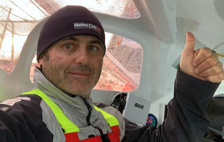 Vendee Globe Leader Bestaven Building his Margin in 40-knot Winds