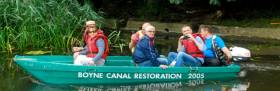 Boat trips started at the restored sea lock at Oldbridge - Lock one where everybody entering a boat was provided with a lifejacket