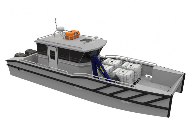Artist's impression of the new landing craft being constructed in Arklow