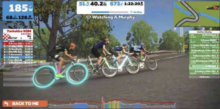 The 29er crews were joined by Annalise Murphy on the virtual cycle