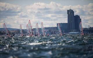 Racing in the Girls 29er dinghy division at the Youth Worlds in Poland this week. Leah Rickard and Eimer McMorrow Moriarty are competing for Ireland.