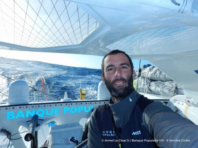 Armel Le Cléac'h – It will be the third time in successive editions of the Vendée Globe that he has rounded the Horn in the top three