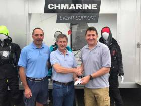 At the official announcement of CH Marine continued sponsorship of the Irish Laser Association were (from left) Ed Rice, event coordinator, Nick Bendon of CH Marine and class treasurer, Nick Walsh