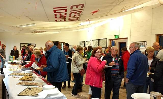 Calves Week 2016 regatta opened with a reception provided by local producers for the 74–boat fleet