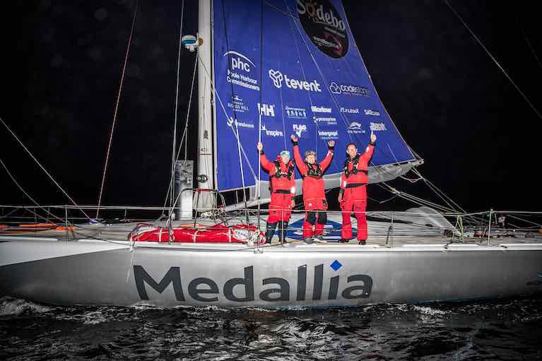 Medallia and crew including Belfast's Mikey Ferguson post race