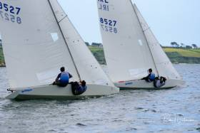 Two Star keelboats training in Cork Harbour