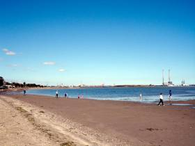 Merrion Strand: good for walking, not recommended for bathing