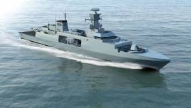 An impression of Cammell Laird BAE Systems 'Leander' frigate underway at sea