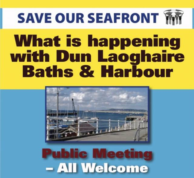 Dun Laoghaire Seafront Campaigners To Hold Public Meeting On Future Of Baths & Harbour