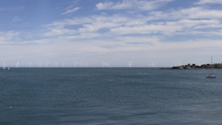 Dublin Array: Likely view from Dún Laoghaire towards Sandycove and out towards the Kish Bank.